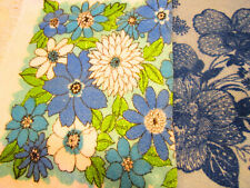 vintage blue 60s towels Dundee,Cannon -cotton,floral