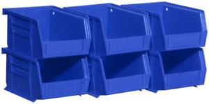 Akro-Mils 08212BLUE 30210 AkroBins Plastic Storage Bin Hanging Stacking Conta...