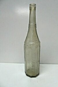ANTIQUE HOLBROOK GLASS SAUCE BOTTLE VULCAN