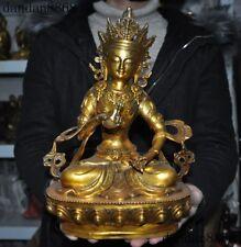 Tibet Buddhism bronze Gilt Vajrasattva Vajradhara KwanYin Guanyin Buddha statue