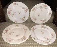 """Set Of 4 Theodore Haviland Limoges France Luncheon 9"""" Plates"""