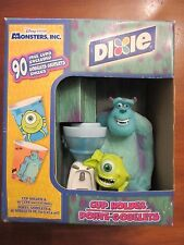 MONSTERS INC DIXIE CUP HOLDER & 90-5 OUNCE CUPS~BATHROOM~KITCHEN~DISNEY PIXAR~LN