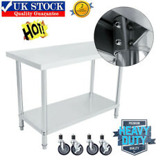 More details for stainless steel kitchen work bench commercial catering table food prep worktop