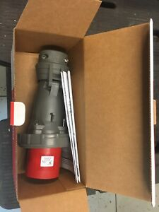 Pass & Seymour Legrand PS460P7W Pin & Sleeve Plug Watertight  480V 60A New