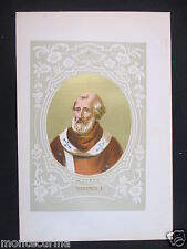 1879 PAPA MARINO I MARINUS ANTICA STAMPA CROMOLITOGRAFIA SANTO PAPI POPE D248 m