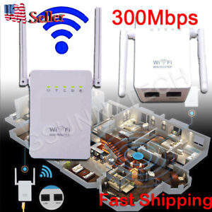 Wireless - N Repeater 300M Network Router WiFi Signal Range Extender 802.11n