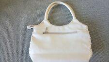 White Soft Lush Full Leather Handbag
