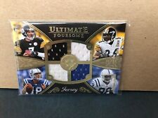 '08 Peyton Manning/Ben Roethlisberger Ultimate Foursome Jersey Hines&Marvin /50