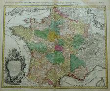 France Royaume de France Galliae Regni HOMANN ZANNONI BLASON Cartouche 1764