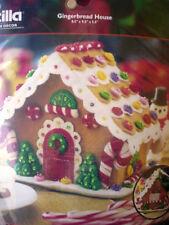 Bucilla Felt Applique Holiday Christmas Kit,GINGERBREAD HOUSE,Candy,85261