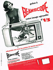 PUBLICITE ADVERTISING 014   1963   BEAMSCOPE    agrandisseur d'image téléviseur