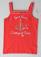 NWT 9 Years Gymboree PREPPY PEACH Croquet Club Tank Top Shirt