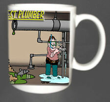 THE WORLDS BEST PLUMBER MUG. LIMITED EDITION GIFT, WITH GIFT BOX
