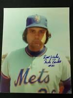 Mike Bruhert Auto Signed 1978 NY Mets 8x10 Photo JSA 15B