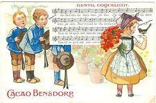 Cacao Bensdorp, Werbe-AK, Farb-Litho, 1908