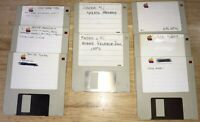 1984 Macintosh 128K SET of 8 Original APPLE 400K Floppy Software DISKS Mac 512K