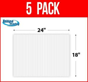 """5 pack WHITE BLANK 18"""" x 24"""" Plastic Corrugated 4mm Political Yard Signs Coro"""