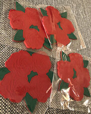 Rose Cluster (4) silicone coasters New Sealed Floral