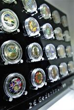 Münzaufsteller für 24 Stk. Sammlung 2 € Euro Gedenkmünzen Sondermünzen