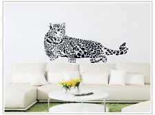 Leopard Vinyl Removable Wall Sticker Home Decor Decal Art Mural Large Africa DIY