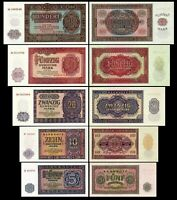 Alemania 2x 5, 10, 20, 50, 100 DDR Mark - Deutsche Notenbank 1955 - Reproducción
