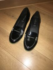 Love label  black shoes size 4. New Court Patent Loafer Ladies School Work