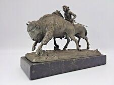 "1971 Philip Kraczkowski Pewter Sculpture ""Buffalo Hunt"""