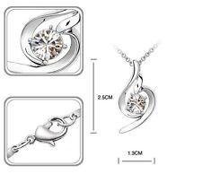 Collier Goutte Cristal Swarovski Transparent  Plaqué Or - Bijoux des Lys