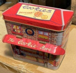 Silver Crane Company Money Cookie Store Sweets Storage Tin Birthday Christmas