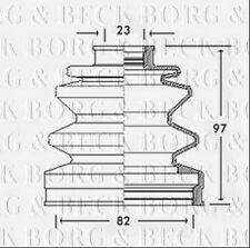 BCB2288 BORG & BECK CV JOINT BOOT KIT fits Honda - Outer NEW O.E SPEC!
