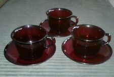 Luminarc saucers and cups set of 3