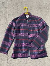 SALE @ TALBOT'S Pant SUIT ALL SILK Jacket Blazer Paisley Boho Women Sz 4 ❤️sj7m