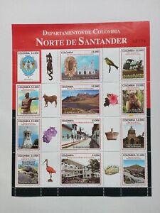 2011 Departments of Colombia - Norte de Santander Stamps Block Columbia
