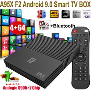 A95X F2 4+64G Android 9.0 OS Quad Core 4K 3D TV BOX Dual WLAN HDMI2.1 Amlogic BT