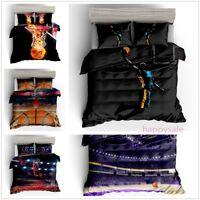 3D NBA Basketball Quilt Cover Bedding Set Basketballer Duvet Cover Pillowcase