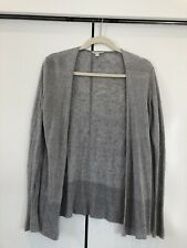 Eileen Fisher Lightweight Open Drape Linen Knit Cardigan Grey Sz Xs