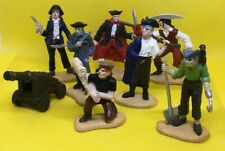 8 Safari Ltd Pirates Figures Treasure Map Grave Digger Lady Pirate Cannon etc