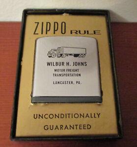 ZIPPO RULE - Vintage Advertising Tape Measure - Wilbur Johns Trans Lancaster, PA