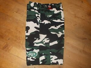 NFL New York Jets Camo Cargo Pants Size 34W X 30L Men's NWT