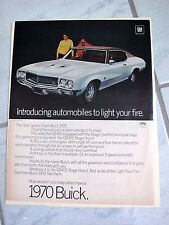 1970 BUICK GRAN SPORTS GS455 - VINTAGE AMERICANA  NEWSPAPER  AD.