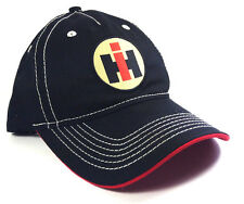 BLACK INTERNATIONAL TRUCKS HARVESTER HAT CAP LOGO CURVED BILL ADJUSTABLE RETRO