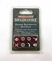 Khorne Bloodbound Dice Pack (8) – Warhammer Underworlds Shadespire – NIB – OOP