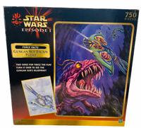 Star Wars Episode 1 Puzzle 750 Pc Gungan Sub Escape Hasbro 1999