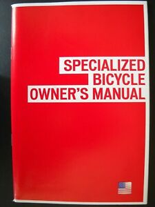 **SPECIALIZED BICYCLE OWNERS MANUAL INCLUDING CD, INFORMATION FOR MOST BIKES**
