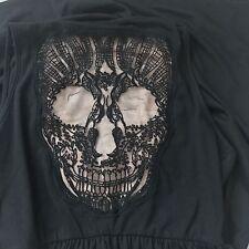 Hot Topic Womens Rocker Skater Dress Lace Skull Goth Sz L Summer