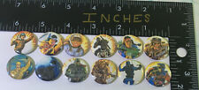 G.I. Joe 12 Pin Lot Joes Pins One Inch 80s Toy Figure Snake Eyes Snow Quick Duke