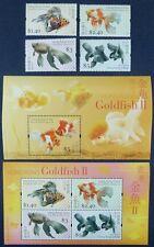Hongkong 2005 Goldfische Gold Fish Fische Pesci 1290-93 Block 144-145 MNH