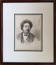Lucien JONAS 1880-1947 (attribué à).Alexandre Dumas.C.1898.Lavis.16x11.Cadre.