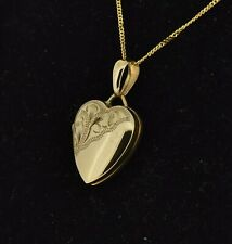 9ct Yellow Gold 14mm Heart Locket