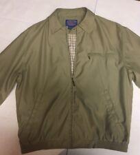 Pendleton mens jacket tan khaki Large